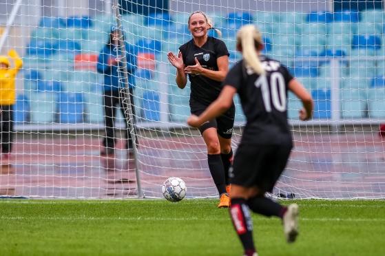 Karin Lundin – två mål mot FC Rosengård. Foto: PER MONTINI