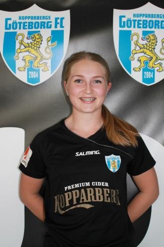 Hanna Andersson, 17. Ny i KGFC:s a-trupp.