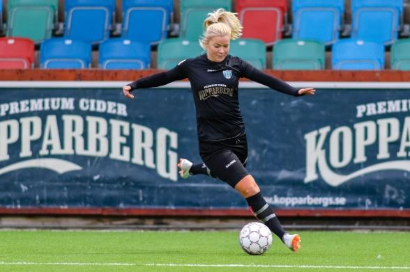 Amanda Johnsson Haahr (4 mål), Pauline Hammarlund (4) och Karin Lundin (3) stod för målen mot Rössö. Foto: PER MONTINI