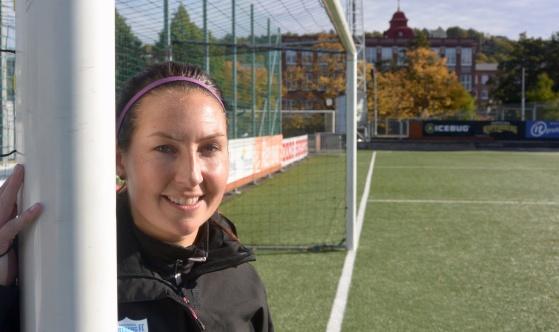 Anna is back! Klubbikonen Anna Ahlstrand blir nu en av de ansvariga för KGFC:s F19-lag. Foto: TORE LUND