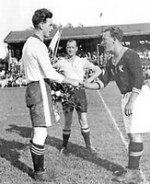 Bild från första allsvenska matchen 1932 mot AIK