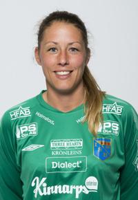 Anna Eckert spikade igen och ordnade Halmias första poäng.