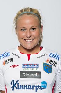Alicia Svensson, ligger bakom mycket med sin känsliga vänsterfot. Farlig på fasta situationer.