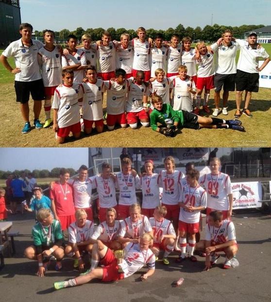 Nya framgångar för ungdomarna, på övre bilden syns U15 (foto Anders Nilsson) och på nedre bilden U19 (fotograf okänd).