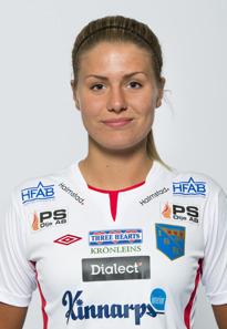 Tilda Bengtsson, en av två målskyttar för IS Halmia.