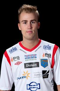 Robin Sjögren, målskytt tillsammans med provspelande Dorde Antonic.