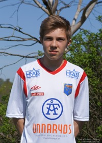 Matchens lirare. Felix Persson var på ett lysande spelhumör och låg bakom det mesta i anfallsväg för Halmia.