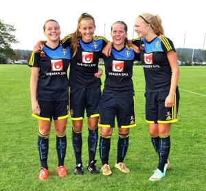 Ebba, Matilda, Vilma och Matilde var inblandade i alla målen i helgens seger mot Stockholm.