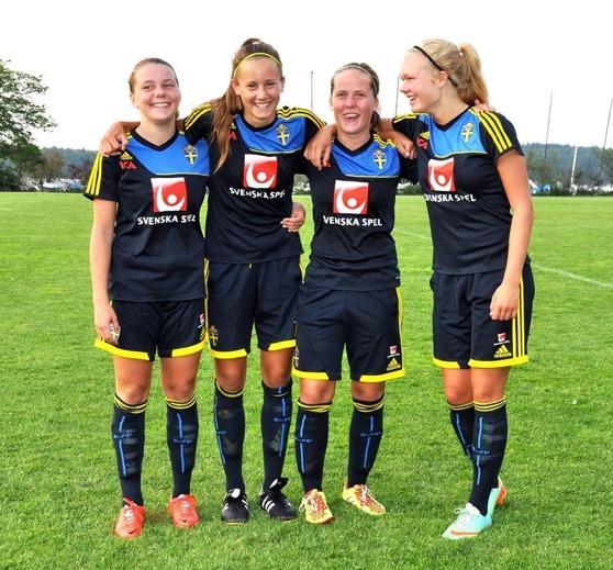 Ebba, Matilda, Vilma och Matilde fanns alla med i den Svenska startelvan.