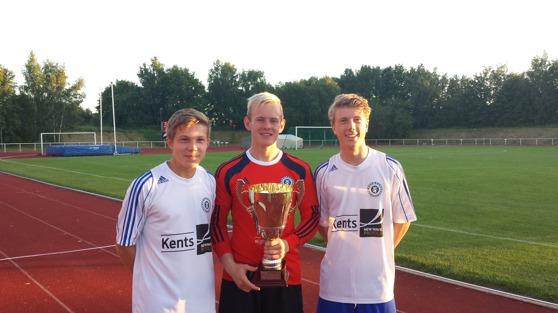 Triss i Halmianer. Felix Persson, Malte Påhlsson och Oskar Gustafsson kan numera titulera sig vinnare av Cup Byggnads 2015.