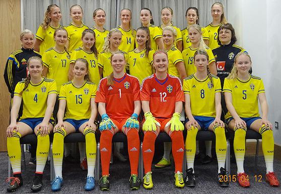 Svenska F16-landslaget. Bild lånad från SvFF.