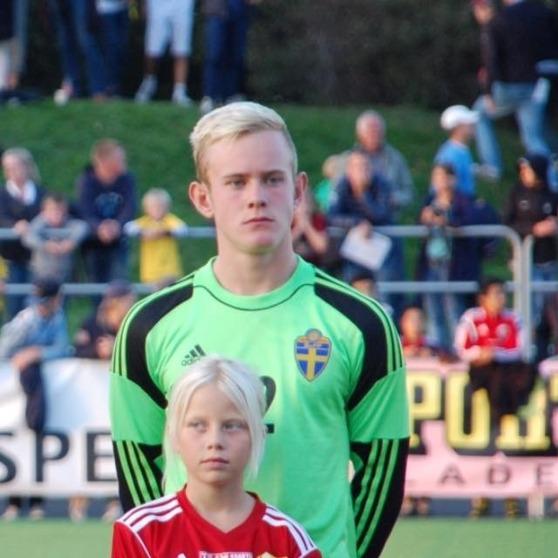 Malte Påhlsson, landslagsmålvakt i det Svenska P16-landslaget.