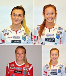 Sjukstugan snart över i Halmia. Isabelle Axeldal, Matilda Olsson, Matilde Abrahamsson och Fannie Wagnemark är eller har varit sjuka.