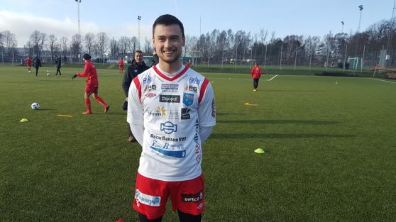 Dagens målskytt Vuk Lugonjic. Foto: Christoffer Andréasson
