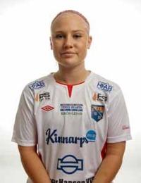 Emma Harrysson bär ett stort ansvar och är en viktig pusselbit i Halmias unga talangfulla lag. Foto: Anders Nilsson