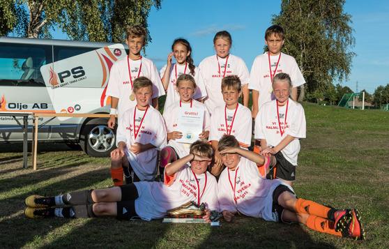 Vinnare av Halmiafemman 2016, Bäckagårdsskolan 5 A. Fotograf: Roger Bengtsson