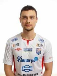 Matchhjälte. Halmias Vuk Lugonjic gjorde hemmalagets båda mål, varav det sista kom i den 95e minuten. Foto: Anders Nilsson