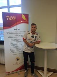 Rasmus Bengtsson stannar i IS Halmia minst en säsong till. Foto: Leif Jönsson