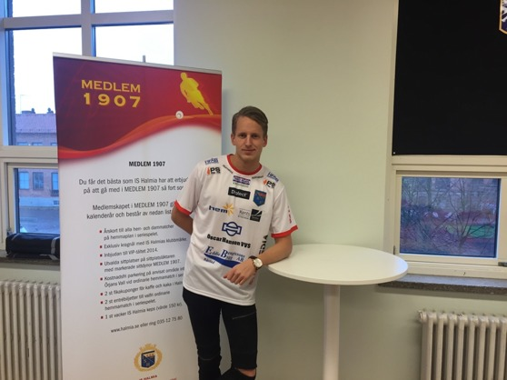 Nyförvärvet från i somras, Anton Jonsson förlänger sitt kontrakt över 2017. Foto Leif Jönsson