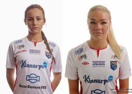 Matilda och Matilde reser till Finland för dubbellandskamper med Svenska F17-landslaget. Foto: Anders Nilsson