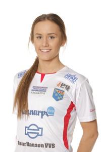 Matilda Olsson gjorde viktiga 3-2 och 4-2 och säkrade segern till Halmia. Foto: Sportfoto Syd