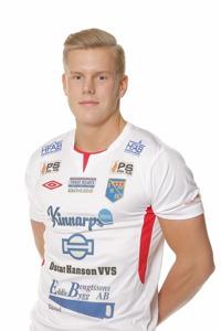 Emil Håkansson gjorde Halmias enda mål när han mycket elegant skruvade in en frispark i första halvlek. Foto: Sportfoto Syd