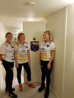 Från vänster; Emmy Lundkvist, Saga Holm, Sandra Holm.