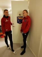 Från vänster; Moa Jönsson, Alicia Hansson (som för övrigt spelat ihop och följts åt sedan barnsben).