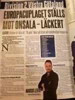 Marcus Leifby på Aftonbladet skriver lite om vår serie och har sin tabell klar...