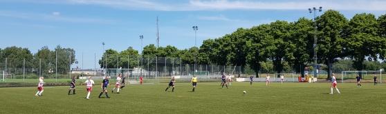 IS Halmia Dam - Ulricehamns IFK i hettan på Halmstad Arena IP. Foto: IS Halmia