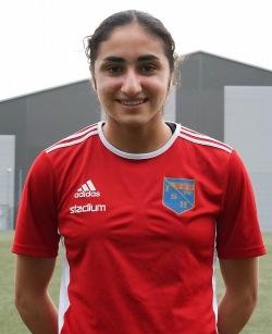 Nesrin Akgun reser till Serbien för EM-kval med F18-landslaget. Foto: IS Halmia