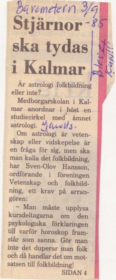 Barometern 3 september 1985