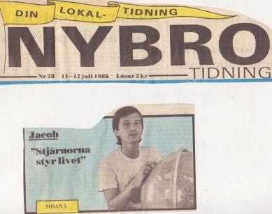 Första sidan Nybro Tidning