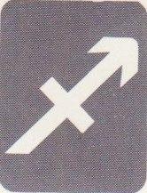 Skyttens tecken i kartan