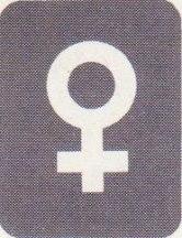 Venus tecken i kartan