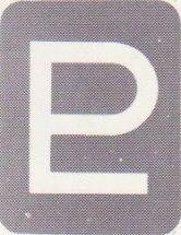 En av Plutos två tecken i kartan