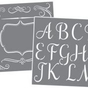Schablon ABC Sophisticated - set 7 st