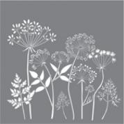 Schablon Wildflowers, stor