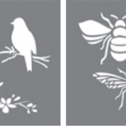 Schablon Bees and Birds - set 2 st.