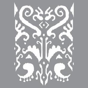 Schablon Indian Ikat