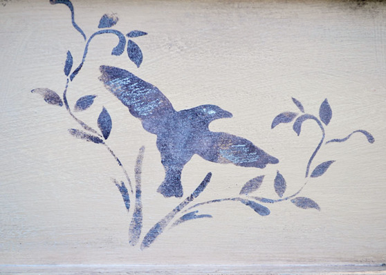 Annie Sloan Stencil Schablon Classical Bird