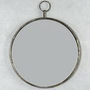Spegel rund, metall med ögla