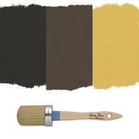 Annie Sloan Chalk Paint kulörer för rosteffekt, Graphite, Honfleur & Arles