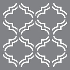 Schablon Moroccan Tile, stor