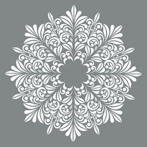 Schablon Fleur Medallion, stor