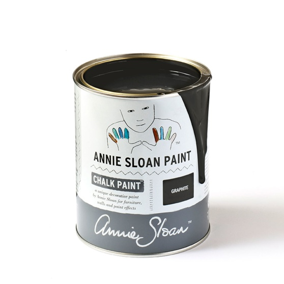 Annie Sloan kulör Graphite, mest populär bland Chalk Paint kulörerna. Graphite finns även som väggfärg.