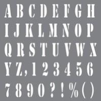 Schablon Alfabet/Siffror