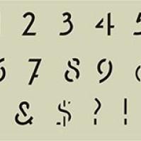 x Schablon Siffror Freehand