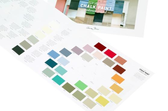 Chalk Paint färgkarta och färgfolder över alla kulörer