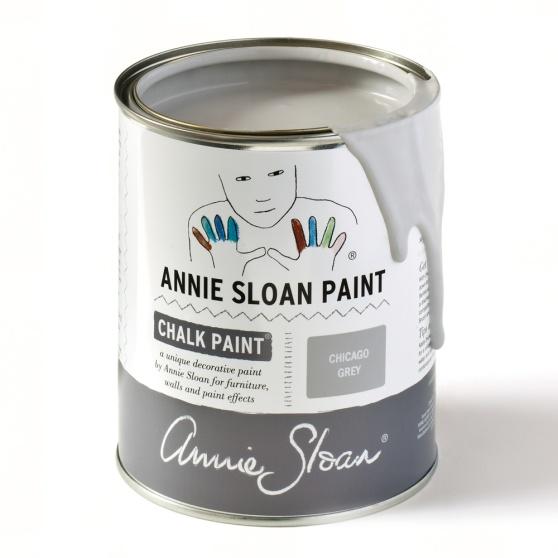 Chicago Grey Annie Sloan Chalk Paint, en neutral, sval grå kulör.